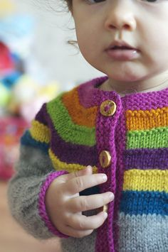 right as rainbow baby cardigan.