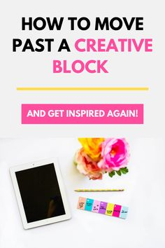"How to move past a creative block and get inspired again! Today we're chatting about 4 different ways you can get those creative juices flowing again and get out of the ""pandemic funk"" so many of us are experiencing. #entrepreneurmindset #selfcaretips #mentalhealth #selfcareideas #businesstips"