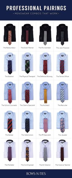 Professional Pairing Guide For Men #men #style #professional #affiliate