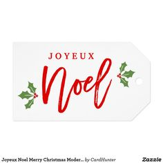 """Joyeux Noel Merry Christmas Modern Simple Stylish Gift Tags ================= ABOUT THIS DESIGN ================= Joyeux Noel Merry Christmas Modern Simple Stylish Calligraphy Script Gift Tag. (1) For further customization, please click the """"Customize it"""" button and use our design tool to modify this template. All text style, colors, sizes can be modified to fit your needs. (2) If you need help or matching items, please contact me."""
