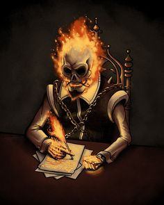 Ghost Writer. This is basically what I look like when I write.