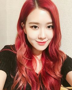 Rose with red hair = goals Kpop Girl Groups, Korean Girl Groups, Kpop Girls, Foto Rose, Rose Bonbon, Peinados Pin Up, Rose Park, 1 Rose, Babe