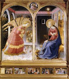 Beato Angelico, Annunciazione, San Giovanni Valdarno, Museo della Basilica di Santa Maria delle Grazie