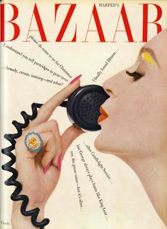 Alexey Brodovitch, cover design for Harpers Bazaar, 1958. USA.