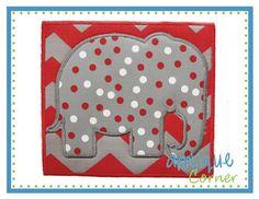 Elephant Silhouette Patch Applique Design