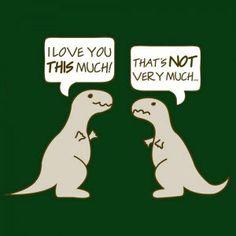 Dino Love Funny Humor Animal Gift Men's Women by 9FightingMonkeys, $17.99