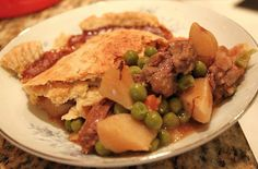 Whats Cookin Italian Style Cuisine: Double Crusted Leftover Leg of Lamb Pot Pie Recipe