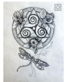 Celtic Mandala - would have different flowers, but I love this!
