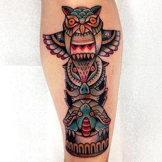 10 Spiritual Totem Pole Tattoos