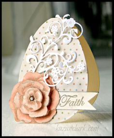 Easter Egg Card with @JustRite Papercraft, Inc., @Spellbinders and @Graphic 45®
