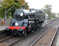 80151 taking water at Sheffield Park - Derek Hayward Sheffield Park, Severn Valley, Buses And Trains, Steam Railway, British Rail, New Tyres, Steam Engine, Steam Locomotive, Train Tracks