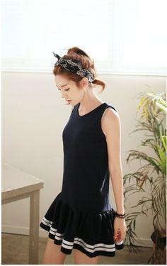 Sleeveless flare dress  #dress #kooding