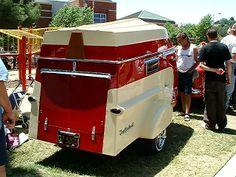 """Vintage """"Trailerboat""""    Boat on top camper on bottom"""