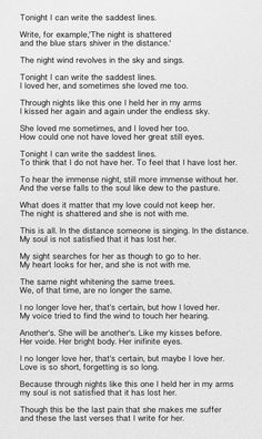 Poema 20 - Neruda