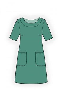 Simple Dress - Sewing Pattern #4517