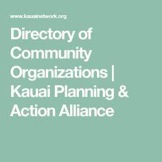 Directory of Community Organizations | Kauai Planning & Action Alliance