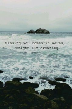 I'm drowning in the water of all oceans
