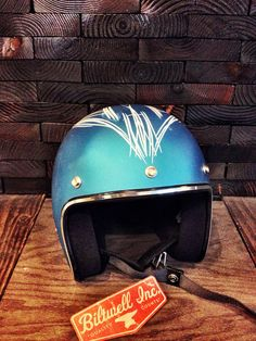 Biltwell Hand Pinstriped Helmet by LostGarage on Etsy, $100.00