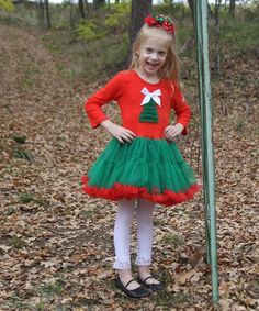 Another great find on #zulily! Diva Daze Red & Green Christmas Tree Ruffle Dress - Infant & Toddler by Diva Daze #zulilyfinds