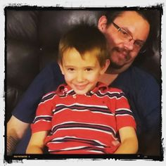 #DadAndSon picture taken by the #daughter... #LoveMyKiddos #LoveMyKiddos #LoveMyKids #goofball #WhatAGoofball  And he's gonna do some #emojis... #smh