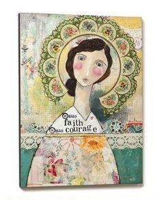 Hello Faith Hello Courage Wall Art - HomeDecor4Seasons