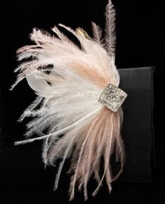 Bridal Feather Fascinator Seen in Oregon Bride by Serephine, $90.00