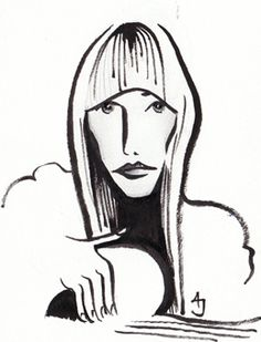 Made this little sketch to celebrate the birthday of Joni Mitchell. My idol. My hero. My inspiration. I've pinched -I mean, been inspire...