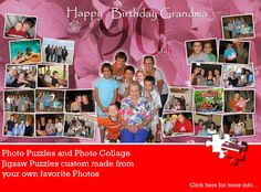 Birthday collage puzzles designed and manufactured by Jigsaw2order. #photo #collage #puzzle