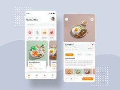 Food app by Manoj Rajput for Mindinventory on Dribbble Mobile App Ui, Mobile App Design, Ux Design, Graphic Design, Android App Design, Website Design Layout, App Design Inspiration, App Development, Customer Experience