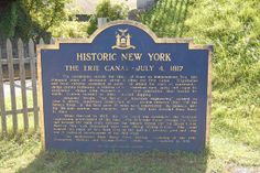Erie Canal Village - Historic  New York -  Erie Canal Marker - Rome, NY