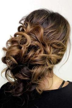 Coiffure De Mariage : Featured Hairstyle:Hair and Makeup by Steph (Stephanie Brinkerhoff); Nurse Hairstyles, Work Hairstyles, Wedding Hairstyles For Long Hair, Quick Hairstyles, Easy Updos For Medium Hair, Curls For Long Hair, Short Hair Styles Easy, Medium Hair Styles, Loose Curls