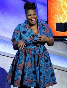 soph-okonedo: Amber Riley attends the Annual McDonalds African Fashion Designers, Latest African Fashion Dresses, African Print Dresses, African Dresses For Women, African Print Fashion, Africa Fashion, African Attire, African Wear, Fashion Prints