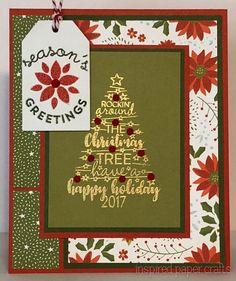Christmas Tunes - Season's Greetings www.inspiredpapercrafts.com
