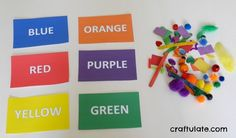 Colour Match Busy Bag from Craftulate