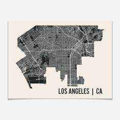 Los Angeles Map Print 24x18, $19, now featured on Fab. mr city printing