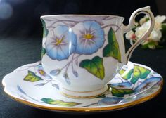 Royal Albert Flower of the Month Series No. 9 Morning Glory Tea Cup and Saucer