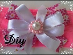 Flor de fita ondas Diy \ Ribbon flower waves Diy - YouTube