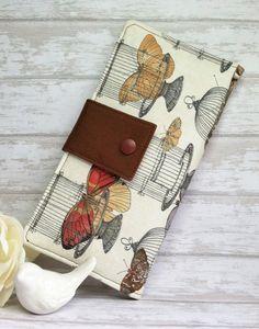 Butterflies and bird cages wallet womans wallet by BirdsandBagz