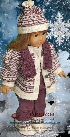 How to knit a a doll sweater with this design doll sweater knitting pattern Knitting Dolls Clothes, Ag Doll Clothes, Crochet Doll Clothes, Doll Clothes Patterns, Knitted Doll Patterns, Sweater Knitting Patterns, Knitted Dolls, Baby Born Kleidung, Pull Bebe