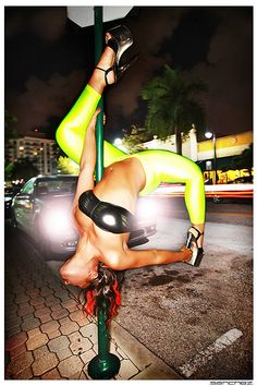 Pole Fitness on the Streets!