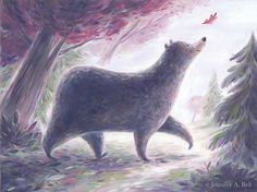 bear and leaf
