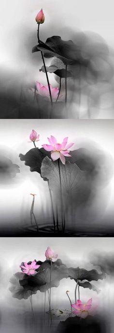 Japanese Ink Painting by Ella Saridi