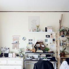 plants // art // vases // shelving