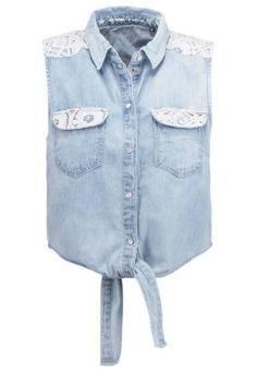 Only Onlpop It Blusa Medium Blue Denim camisetas y blusas Only Onlpop Medium It Denim blusa Blue Noe.Moda