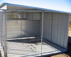 dog kennel roof are the perfect way to provide your dog with a safe place to play. The purchase of a kennel ready to ride is not an option for some Used Dog Kennels, 10x10 Dog Kennel, Dog Kennel Roof, Cheap Dog Kennels, Dog Kennels For Sale, Pet Kennels, Outdoor Dog Runs, Chain Link Dog Kennel, Diy Dog Run