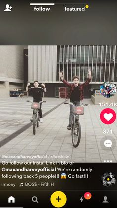 Max and Harvey!!! ❤️ on bikes uploaded by Ella Marie
