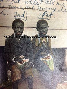 1916 Black Americana Post Card Twin Black Boys by TheIDconnection, $25.00