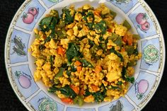 Tofu Scramble (vegan, gluten free) - This easy meal is a perfect way to start you day. It is packed with protein and vegetables.