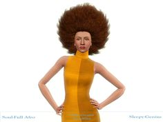 Afro hairstyle retextured by Sleepy-Genius at Mod The Sims for Sims 3 - Sims Hairs - http://simshairs.com/afro-hairstyle-retextured-by-sleepy-genius-at-mod-the-sims/