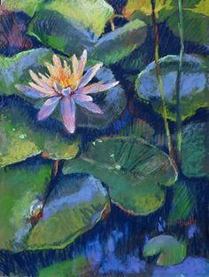 WATERGARDEN BLOOM by Donna Shortt Pastel ~ 16 x 12